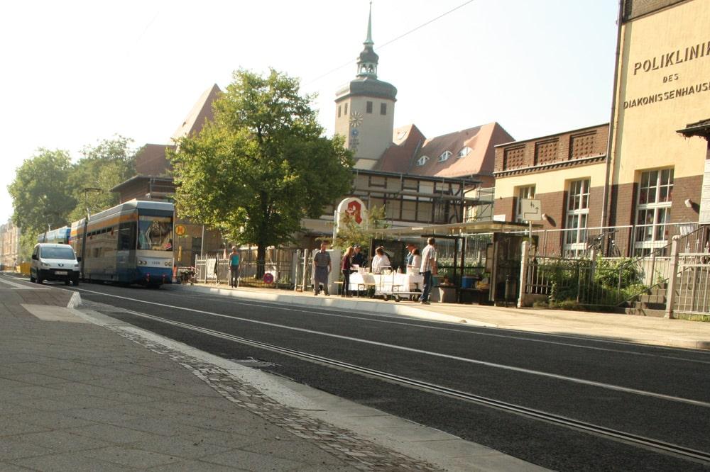 Haupteingang zum Diakonissen-Krankenhaus. Foto: Ralf Julke