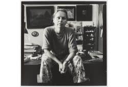 """Aus der Serie """"Begegnungen in Ateliers"""": die Malerin Ina Gille. Foto: Karin Wieckhorst"""