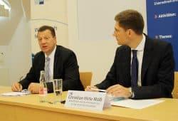 IHK-Präsident Christian Kirpal und Ostbeauftragter Christian Hirte. Foto: Ralf Julke