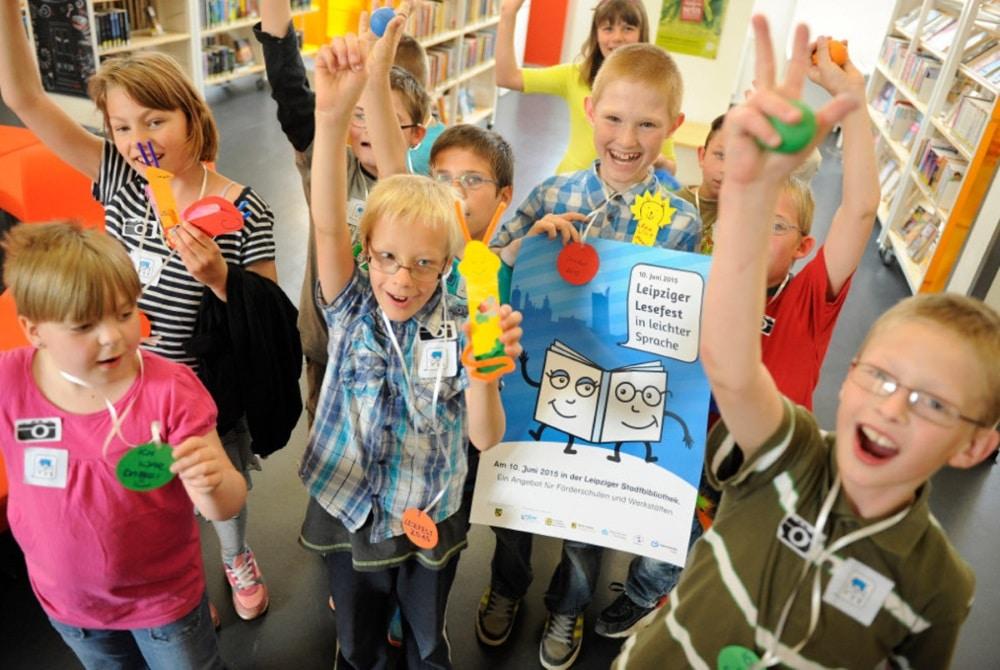 Das Lesefest in leichter Sprache macht allen Spaß. Foto: Christiane Fritsch