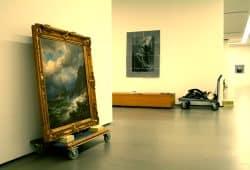 Ausstellungsaufbau im Museum der bildenden Künste. Foto: Ralf Julke