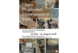 Chava Pressburger: Impressionen in Papier. Plakat zur Ausstellung