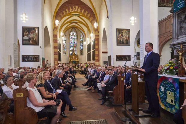 US-Botschafter Richard Grenell sprach das traditionelle Grußwort des Gastlandes. Foto: Bachfest Leipzig/www.malzkornfoto.de