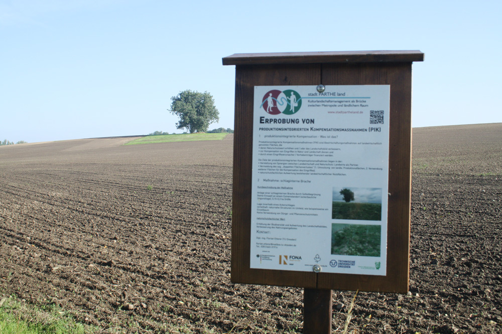 """Im Projektgebiet von """"stadt PARTHE land"""". Foto: Ralf Julke"""