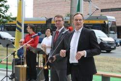 Keine Freunde mehr im Streit um die Verantwortung am 7.11.: Innenminister Roland Wöller (CDU) und OBM Burkhard Jung (SPD). Foto: Ralf Julke