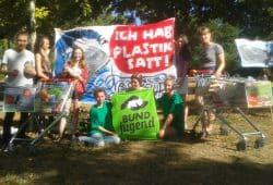 Protest gegen unnötige Verpackungen. Foto: René Loch