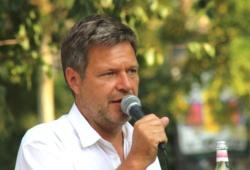 Robert Habeck am 23. Juli 2018 im Lene-Voigt-Park Leipzig. Foto: L-IZ.de