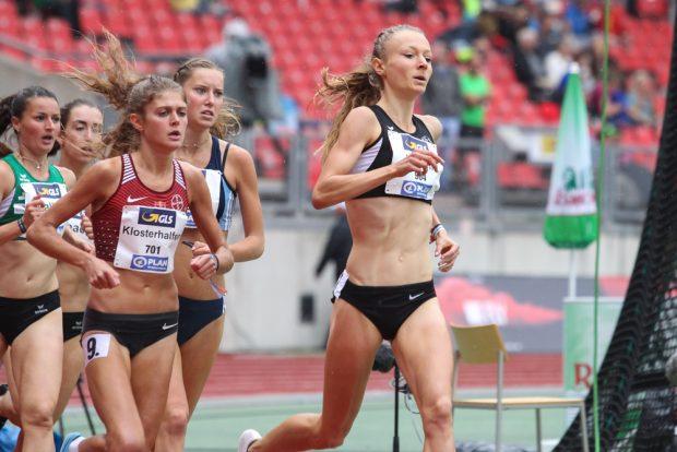 Julia Klein (DHfK) im Vorlauf über 1.500 Meter. Foto: Jan Kaefer