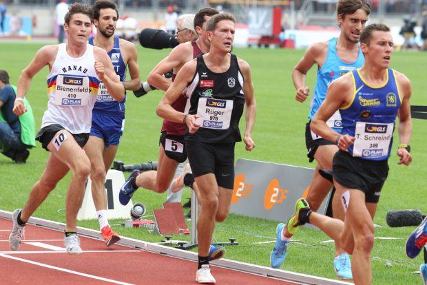 Felix Rüger (SC DHfK) im Finale über 5.000 Meter. Foto: Jan Kaefer