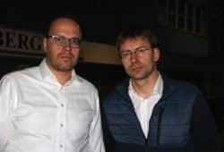 Dirk Panter und Holger Mann (SPD), hier als Unterstützer der Sreikenden von Halberg Guss. Foto: Michael Freitag