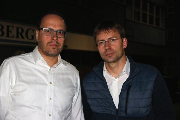 DirkPanter und Holger Mann (beide SPD) im Juli bei Halberg Guss zu Besuch. Foto: Michael Freitag