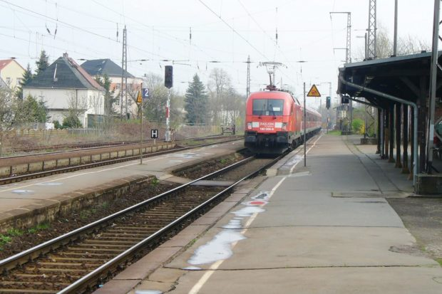 Der alte Zustand des Bahnhofs Taucha. Foto: Deutsche Bahn AG