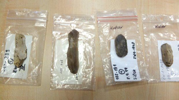 Feuersteinwerkzeuge aus den Eythraer Grabungen. Foto: KOMM-Haus