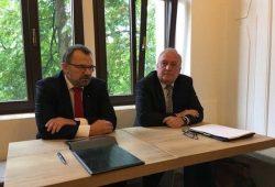 vl: Klaus-Peter Hansen, VG der RD Sachsen der BA und Andreas Werner, Verbandsdirektor KSV, Foto: Agentur für Arbeit