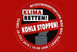 Klima retten! Kohle stoppen! Aufkleber: BUND Sachsen