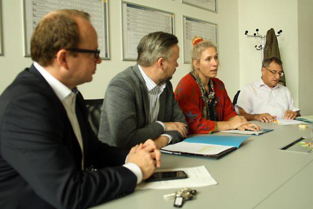 René Hobusch, Frank Tornau, Katharina Krefft und Axel Dyck. Foto: Ralf Julke