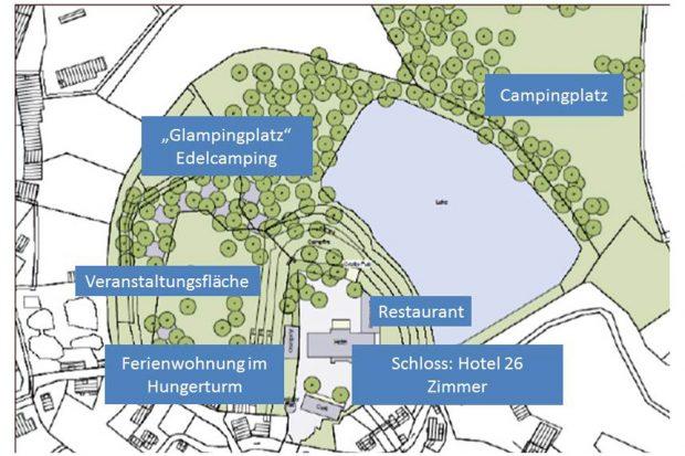 Die Pläne für Schloss Mutzschen. Karte: Stadt Grimma