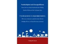 Manfred Wilde und Petro Vykhopen (Hrsg.): Nachhaltigkeit und Energieeffizienz. Buchcover: Verlag Dr. Kovacs