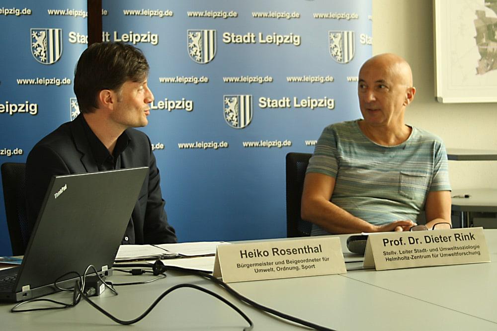 Heiko Rosenthal und Prof. Dieter Rink. Foto: Ralf Julke