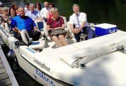 "Steuerungsgruppe Leipziger Neuseenland im Boot ""Sabine"". Foto: Steuerungsgruppe Leipziger Neuseenland"