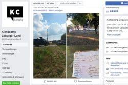 Der Survivor auf der Facebook-Seite des Klimacamps Leipziger Land, Screenshot: L-IZ