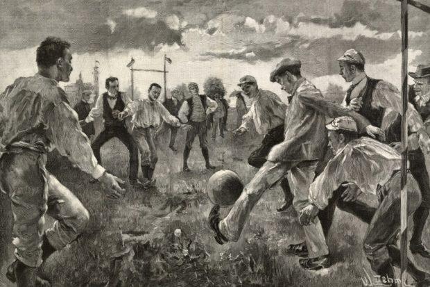 Fußballspieler, Werner Zehme, Leipzig 1894. Foto: Förderverein Sächsisches Sportmuseum Leipzig e.V.