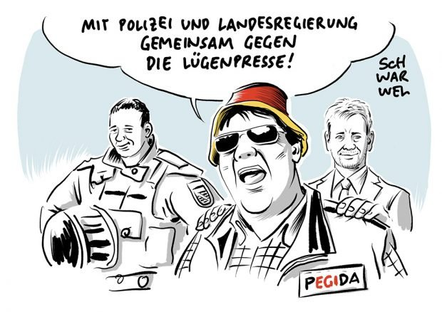 Pegida Pöbler