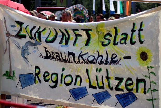 Nicht nur in Pödelwitz, auch in der Region Lützen stellt man sich eine andere Zukunft vor. Foto: Michael Freitag