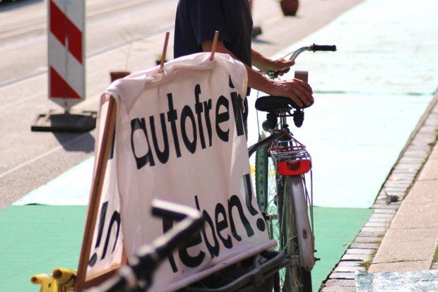 "Die Initiative ""Autofrei leben"". Foto: Michael Freitag"