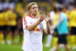 Enttäuschte Gesichter nach der Niederlage in Dortmund. Foto: GEPA Picture