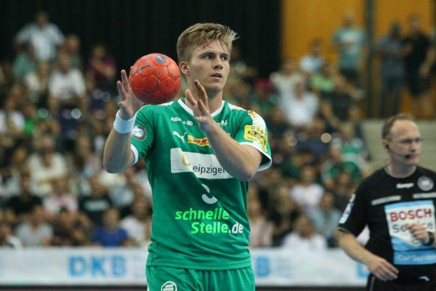 Franz Semper (DHfK) war mit 7 Toren bester Werfer der Partie. Foto: Jan Kaefer