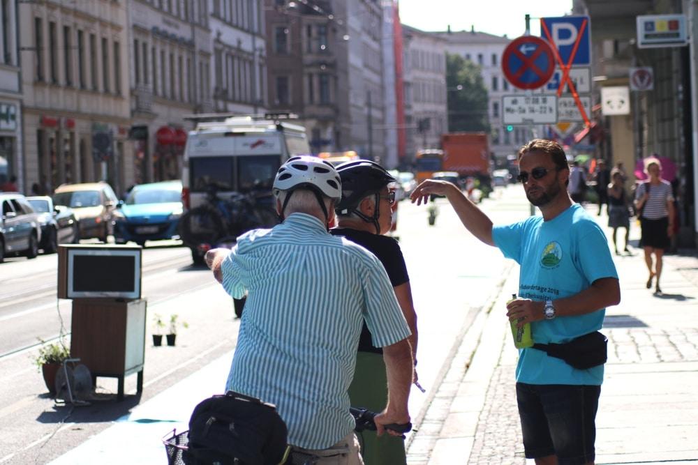 Debatten auf dem Radweg - Sollte es Counter oder Zähler heißen? Foto: Michael Freitag