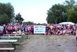 Protestcamp in Pödelwitz. Foto: Luca Kunze