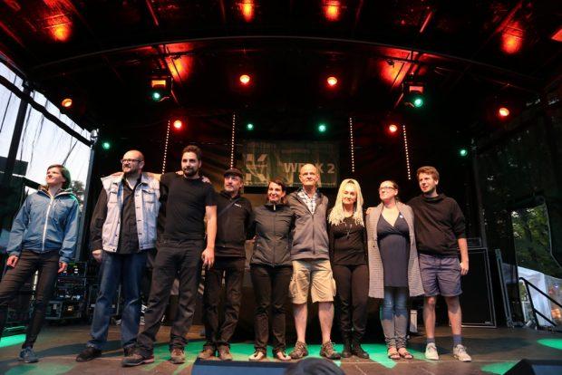 Die Organisatoren des Brückenfestes alle beisammen - siehe Video
