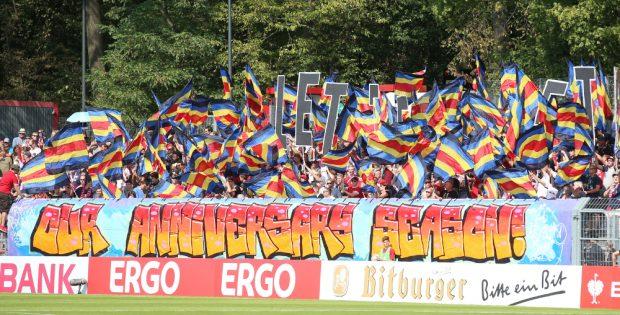 Die RBL-Fans feierten den Auftakt zur zehnten Saison der Vereinsgeschichte. Foto: GEPA Pictures