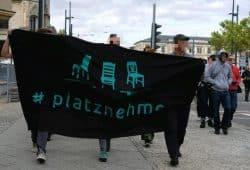 """""""Leipzig nimmt Platz"""" am Montag, 27. August 2018, in Chemnitz. Foto: LNP"""