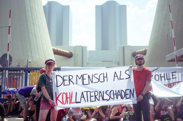 Kohle(er)Setzen-Demo am Kohlekraftwerk Lippendorf 2018. Foto: L-IZ