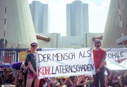 Kohleprotest im Sommer 2018 am Kraftwerk Lippendorf. Foto: Luca Kunze