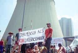 Kohle-Protest am Kraftwerk Lippendorf. Foto: L-IZ