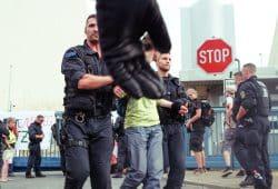 "Protestaktion ""Kohle(er)Setzen"" im Sommer 2018 am Kraftwerk Lippendorf. Foto: L-IZ"