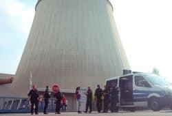 """Demo von """"Kohle(er)Setzen"""" am Kraftwerk Lippendorf. Foto: L-IZ"""