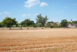 """Pödelwitz - ein weiteres Dorf vor Leipzig soll der Kohle weichen. Hier findet bis zum 5. August das """"Klimacamp"""" statt. Foto: Luca Kunze"""