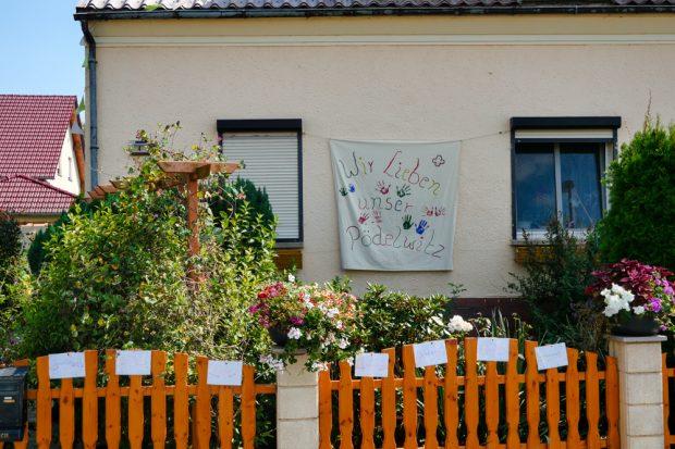 Die letzten Bewohner von Pödelwitz wollen nicht gehen. Foto: Luca Kunze