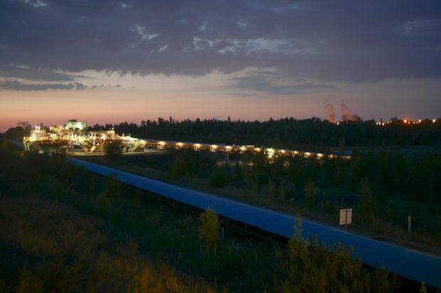 Die MIBRAG - Anlage bei Pödelwitz. Foto: Luca Kunze