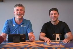 Norman Landgraf (li.) und Martin Hoch sind aus der Sommerpause zurück. Foto: Screenshot Heimspiel TV