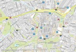 Leipziger Verkehrsinformationssystem mit City-Baustellen. Screenshot: L-IZ