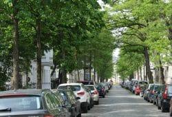 Gut beschattet: die Brockhausstraße in Schleußig. Foto: Ralf Julke