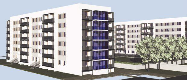 """Die WBG """"Kontakt"""" modernisiert ihre Gebäude An der Kotsche. Foto: WBG Kontakt"""