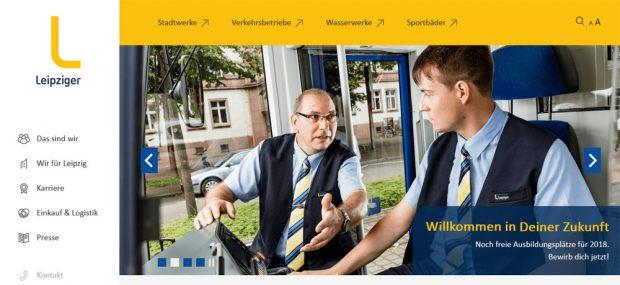 Werbekampagne der LVB auf l.de. Screenshot: L-IZ