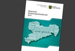Verfassungsschutzbericht 2017. Cover: Freistaat Sachsen, LfV